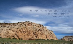 The road to the San Rafael Swell