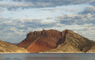 Morning light on Flaming Gorge