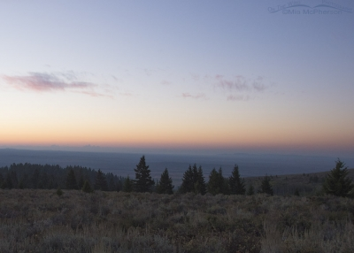 Looking towards the west side of the Tetons from Clark County, Idaho