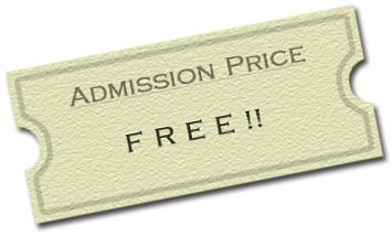 Admission Price - FREE!!