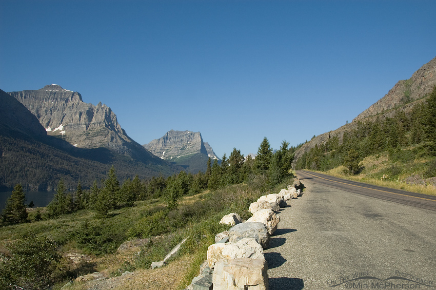 A view from the road on the east side of Glacier National Park