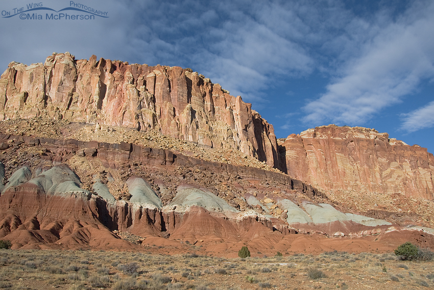 Capitol Reef National Park and soft clouds