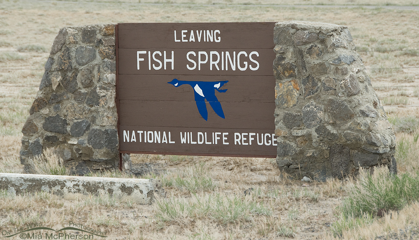 Fish Springs National Wildlife Refuge entrance sign