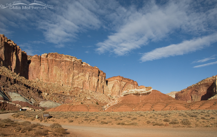 Fluffy clouds over Capitol Reef National Park