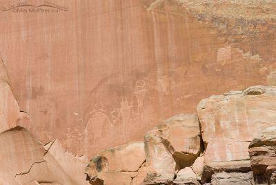 Capitol Reef Anthropomorphs Petroglyphs