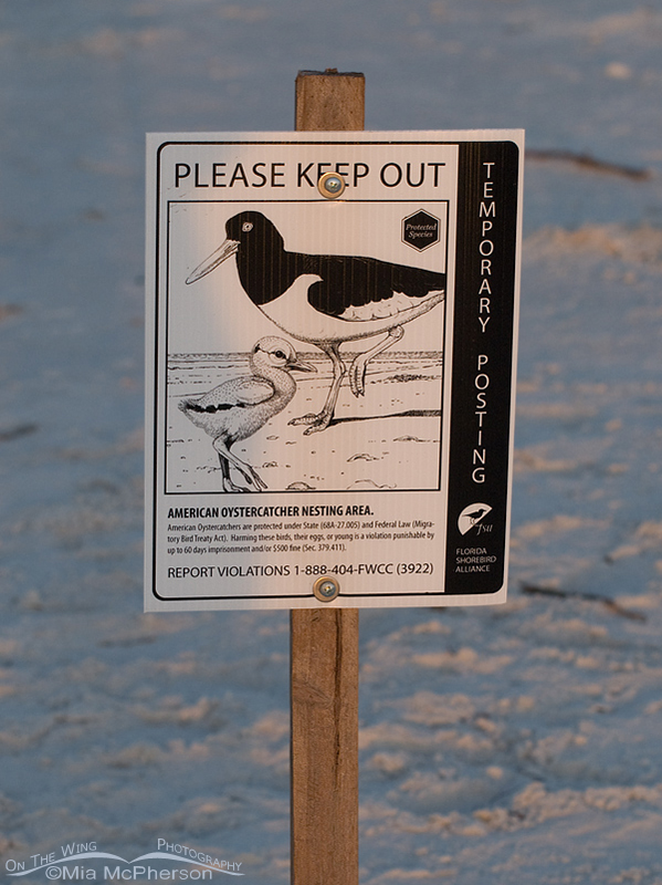 Nesting boundary sign