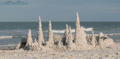A sand castle at Fort De Soto's north beach