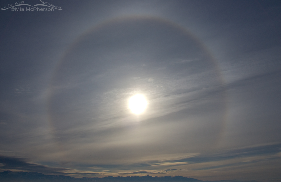 A Sun Dog on February 5, 2014. Seen From Antelope Island State Park