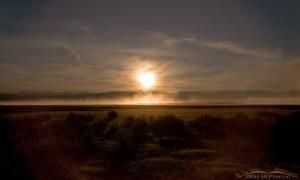 Sunrise and rising lake mist at the Lower Lake