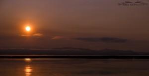 Smokey sunrise over the Lower Lake