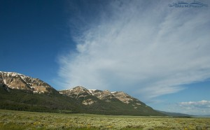 Blue skies at Red Rock Lakes National Wildlife Refuge, Montana