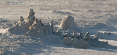 Sand castle on a breezy morning