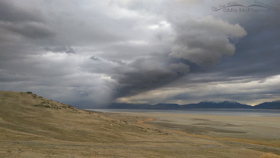 View from Frary Peak Trailhead as the storm moves south
