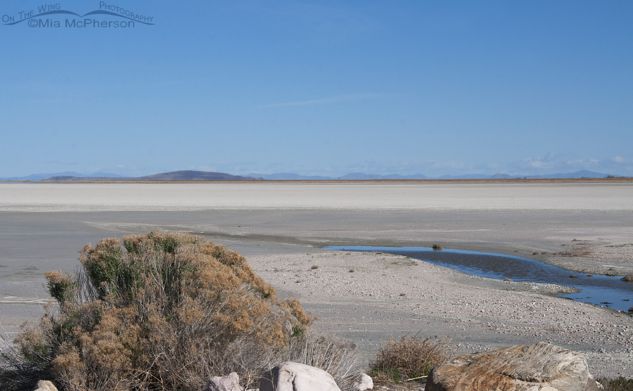 Great Salt Lake as seen from the Antelope Island Causeway on April 12, 2015