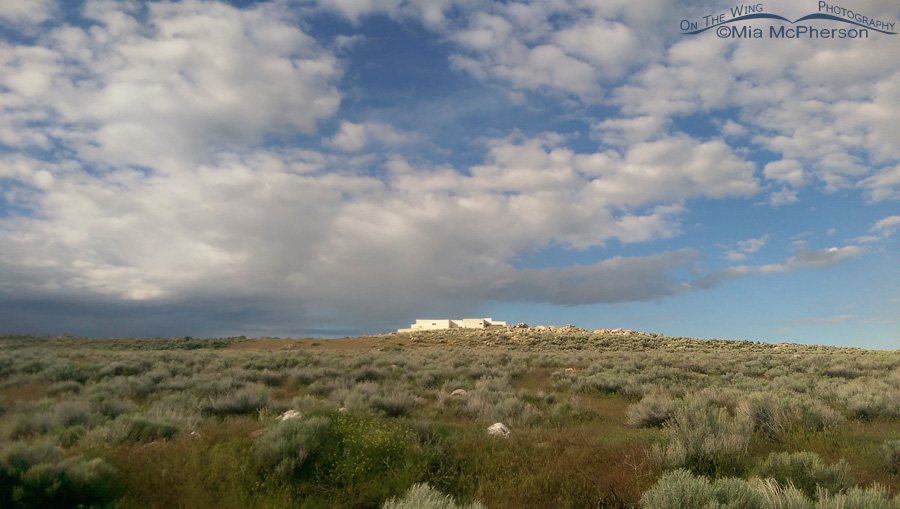 Antelope Island Visitor Center under clearing skies - May 25, 2015