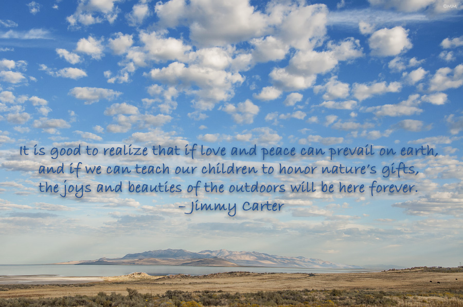 Antelope Island Jimmy Carter Quote