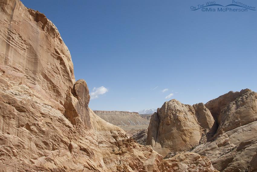 A View through the rocks at Burr Trail
