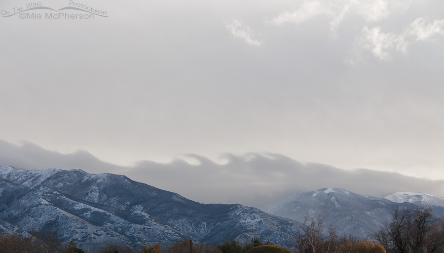 Kelvin Helmholtz clouds over the Wasatch Mountains
