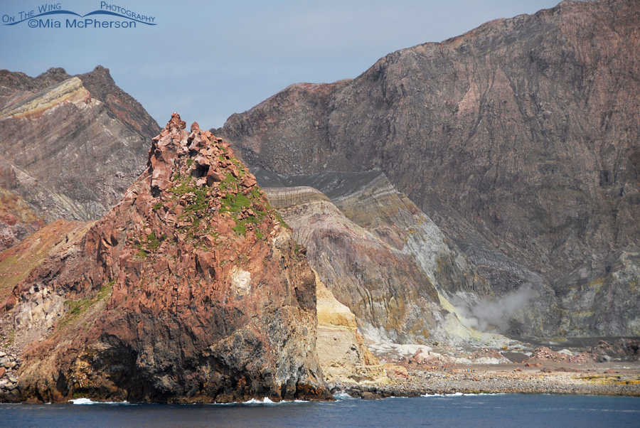 A closer view of Whakaari - White Island