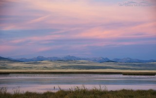 Colorful sunset at the Lower Lake of Red Rock Lakes NWR, Red Rock Lakes National Wildlife Refuge, Centennial Valley, Beaverhead County, Montana