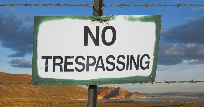 No Trespassing - View of Flaming Gorge Reservoir