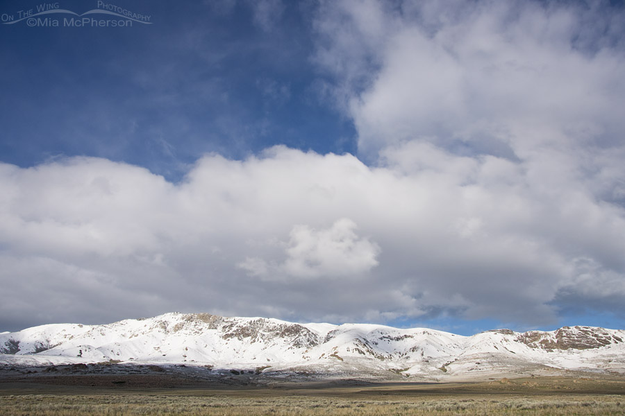 April snow on the mountains of Antelope Island
