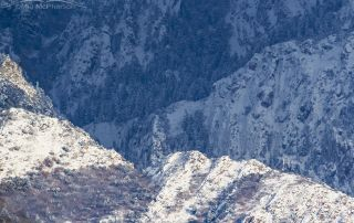 Sunlight, shadows and snow - Wasatch Mountains, Salt Lake City, Utah